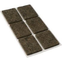 Square Self Adhesive Felt Pads Brown