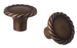 "Cabinet Knob ""Rope"" Antique Bronze"