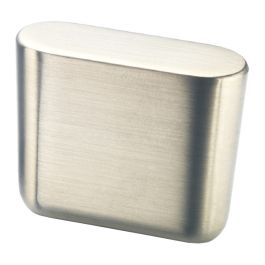Cabinet Knob 'Oval Mini' Stainless Steel Effect